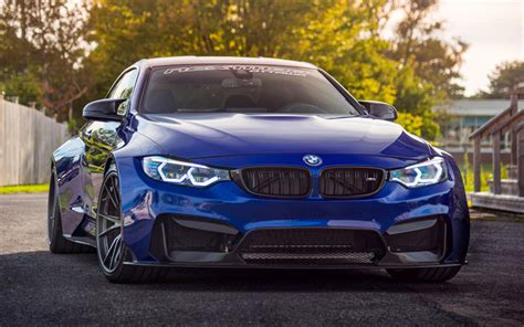 bmw supercar blue download wallpapers bmw m4 tuning f82 2018 cars