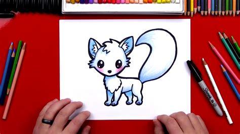draw  arctic fox art  kids hub