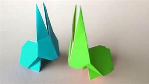 Origami Osterhase Faltanleitung Einfach : origami hase falten osterhasen basteln mit kindern osterdeko selber machen ostern basteln ~ Watch28wear.com Haus und Dekorationen