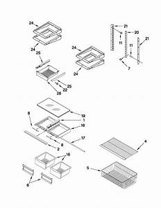 Shelf Parts Diagram  U0026 Parts List For Model Mbf1953yew3