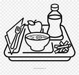 Coloring Clipart Pages Lunch Drawing Tray Meal Dish Covered Clip Drawings Svg Pinclipart Paintingvalley sketch template