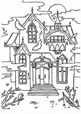 Mansion Coloring Haunted Pages Disney Colouring Halloween Getcolorings Printable Print Colo Getdrawings Colorings Momjunction sketch template