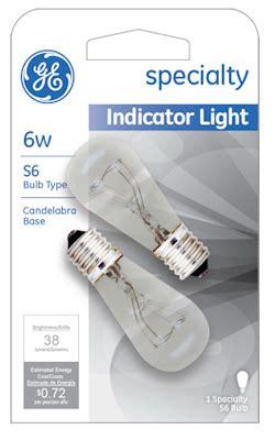 ge indicator light bulb 6w 15820