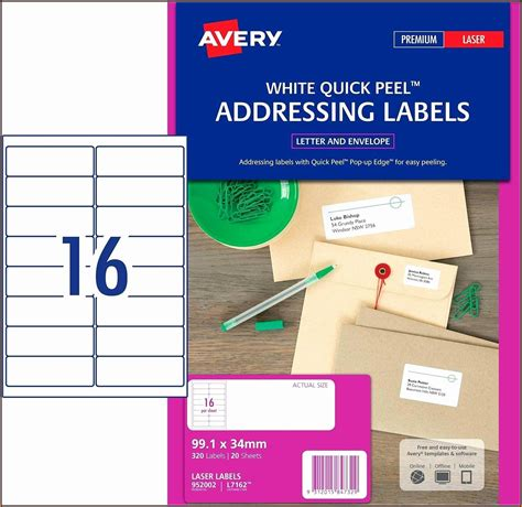avery return address labels template  template