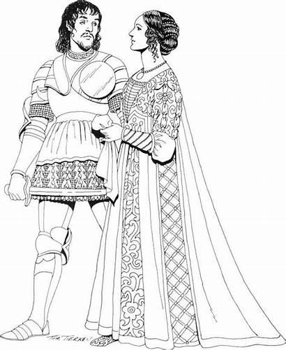 Renaissance Fashions Clothing Drawing Medieval Groom Drawings