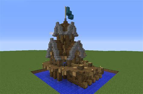 survival offshore ocean fishing house blueprints  minecraft houses castles towers