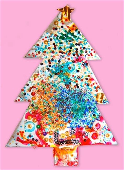 art for christmas preschool sparkly tree craft for preschoolers things to 779