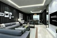 living room design ideas Modern Living Room Design Ideas Azee Girly - Furniture Wood Console Tv Stand Black Samsung Led