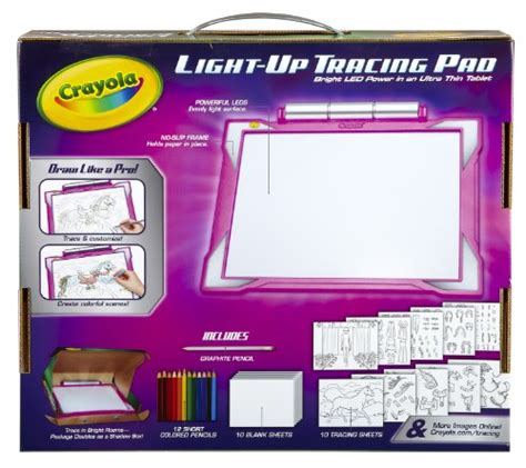 light board for kids from usa crayola light up tracing pad pink coloring