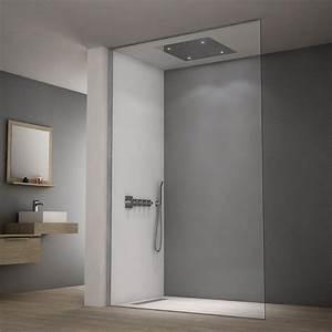 Paroi De Douche Sur Mesure : paroi de douche sol plafond sur mesure fixes one ~ Nature-et-papiers.com Idées de Décoration