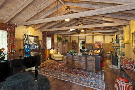 1920's Hunting Lodge Main Residence Living Room In Ojai