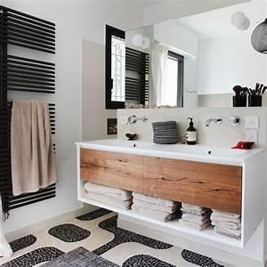 Salle De Bain Noire Et Blanche : d co de salle de bains en noir et blanc c t maison ~ Melissatoandfro.com Idées de Décoration
