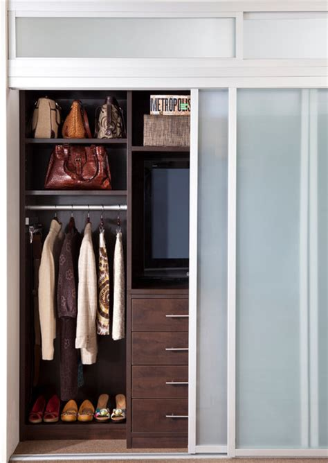 combination reach in closet and entertainment center