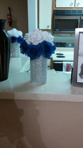 my diy royal blue and white wedding centerpieces wedding blue wedding centerpieces wedding