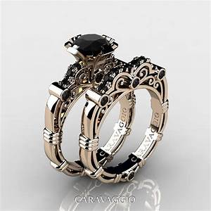 Art Masters Caravaggio 14K Rose Gold 10 Ct Black Diamond