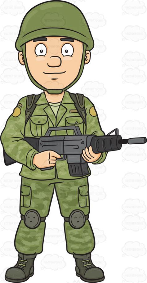 Army Clipart Clipart A Brave And Proud Soldier Holding A
