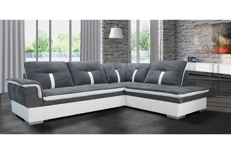 canapé blanc gris canapé d 39 angle marion microfibre design