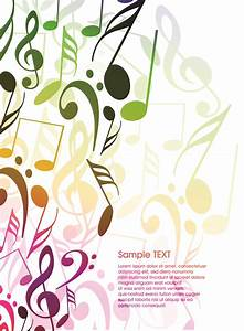 Background musical elements vector Free Vector / 4Vector