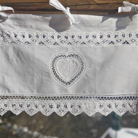 rideau brise bise coton blanc lac 233 1 coeur et fleurs de montagne