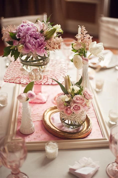 Wedding Centerpieces by Vintage Inspired Wedding Centerpieces Elizabeth
