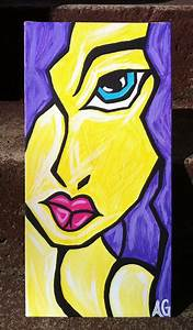 Girl Abstract Face Painting | Art Class-Abstract Faces ...