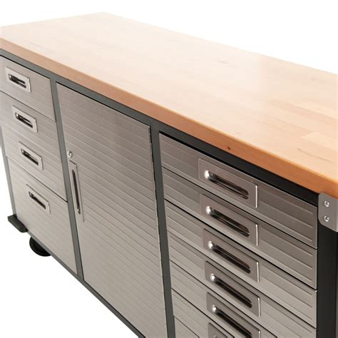 Rolling Garage Cabinets by Buy 72 Inch Timber Top Roll Cabinet Rolling Garage Storage
