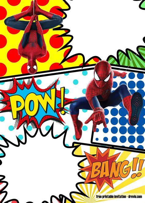 spiderman invitation template invitation printing