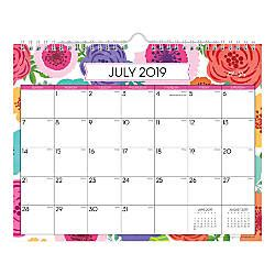 blue sky monthly wall calendar mahalo july june