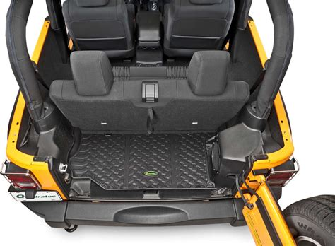 smittybilt tailgate table with quadratec rear cargo liner for 07 18 jeep wrangler unlimited jk 4