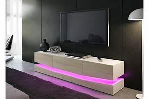 Meuble De Tele Design : meuble tv design blanc 178 cm ~ Teatrodelosmanantiales.com Idées de Décoration