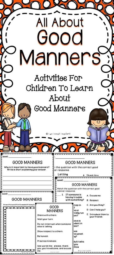 fun activities  teach good manners