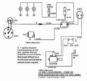 1954 Naa  Jubilee  12v Wiring From Scratch Step By Step Help - Ford Forum