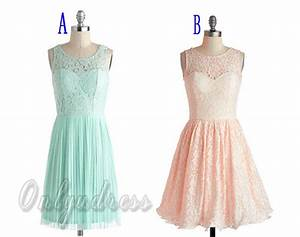 Mint lace bridesmaid dress, peach lace bridesmaid dresses ...