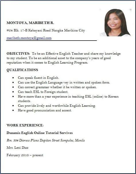 Resume Application by Sle Resume For Applying Teaching Best Resume