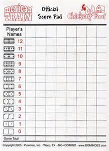 Dominoes Score Sheets Printable