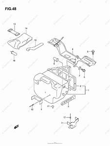 Suzuki Atv 2007 Oem Parts Diagram For Rear Box