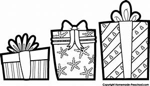 Christmas black and white christmas present clipart black ...