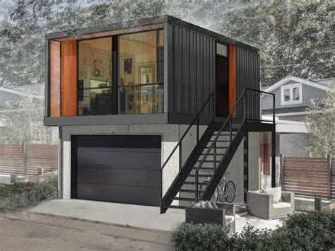 Shipping Containers Make Suite Digs In Edmonton's Back