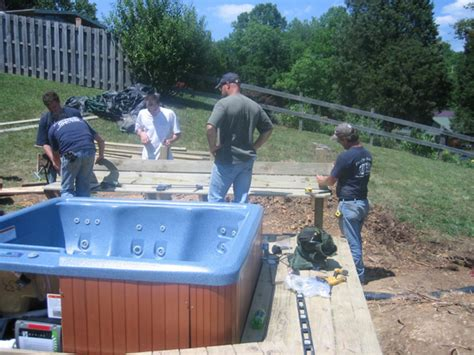 How To Install A Hot Tub Deck Bench  Howtos Diy