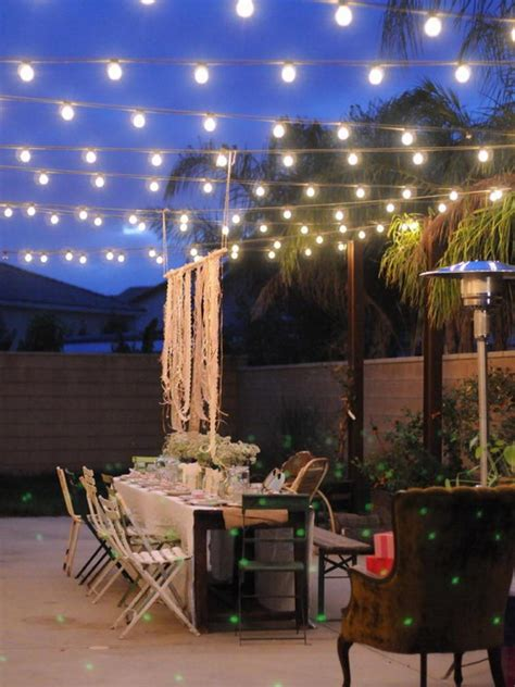 patio lighting ideas for your summery outdoor space homes