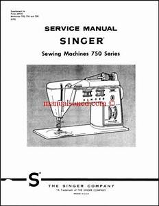 Singer 750  756  758 Touch  U0026 Sew Service And Repair Manual