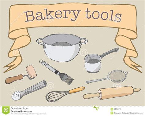 cuisine a prix d usine outils de boulangerie illustration de vecteur