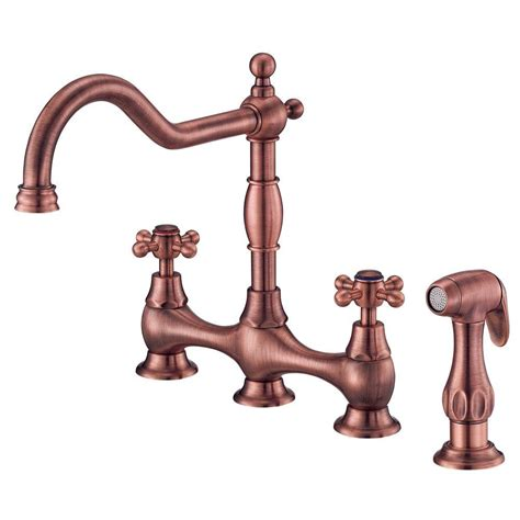 antique kitchen sink faucets danze opulence deck mount 2 handle standard kitchen faucet