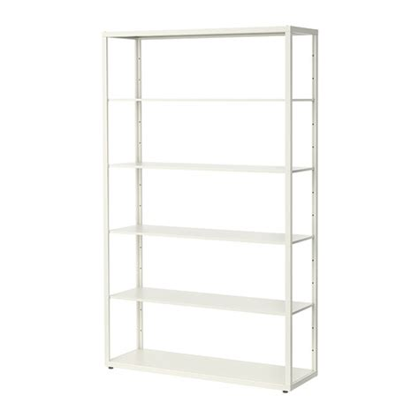 white storage unit ikea fj 196 lkinge shelving unit white 118x193 cm ikea
