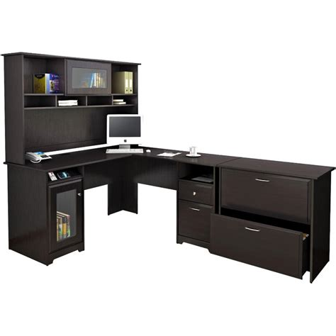 Cabot Espresso Oak L Desk With Hutch And Lateral File. Uc It Help Desk. Treadmill Desk Amazon. White Bench With Drawers. Bookshelf Desk Combo. Executive Desk Pads. Bar Table With Chairs. Convertible Desks For Small Spaces. Home Office Desk Organization