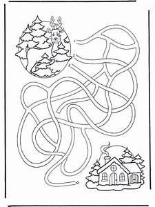 Labyrinth Hirsche Malvorlagen Wintertiere