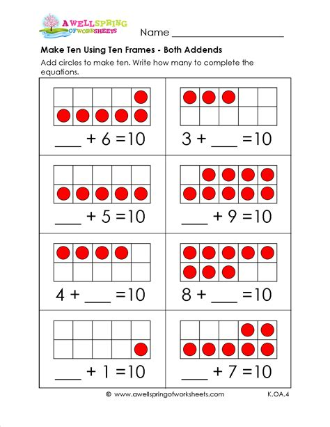 make 10 using ten frames here s another way to practice