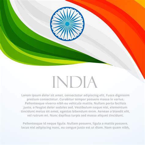 Indian Background Indian Flag Background Template Vector Design Illustration