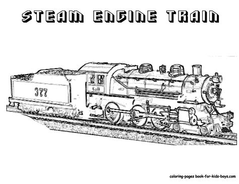 steel wheels train coloring sheet yescoloring