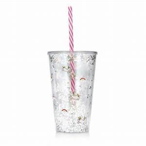 Verre A Paille : verre licorne paillet avec couvercle et paille rigide sur logeekdesign ~ Teatrodelosmanantiales.com Idées de Décoration